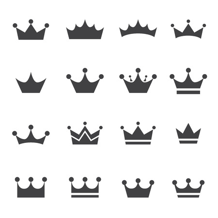 simple: corona icono