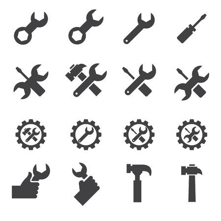 gereedschap en reparatie pictogram Stock Illustratie