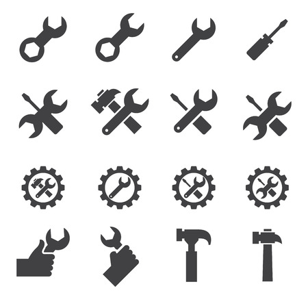 turn screw: tool and repair icon