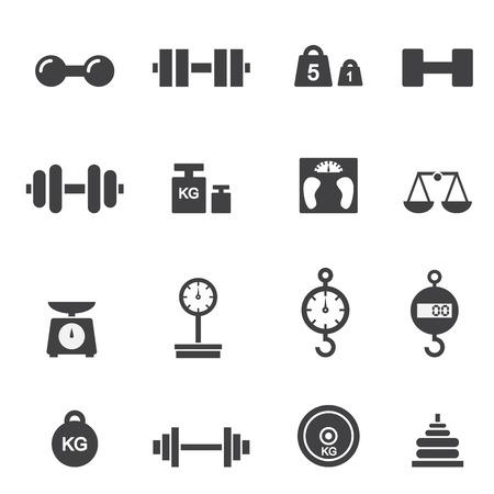 balanza en equilibrio: icono de peso