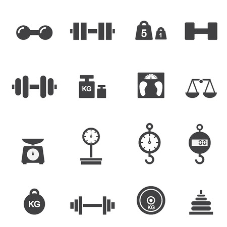 scale weight: weight icon Illustration