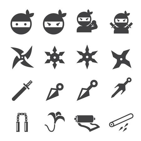 ninja icon Vettoriali