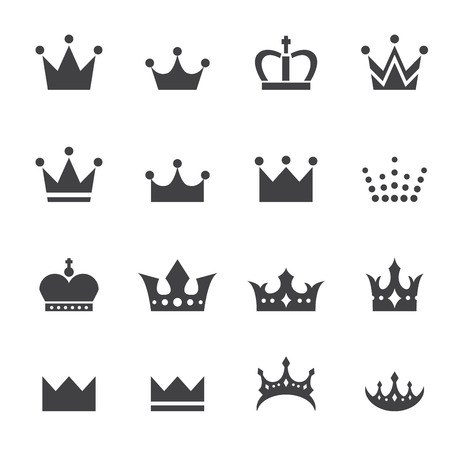 crown silhouette: crown icon Illustration