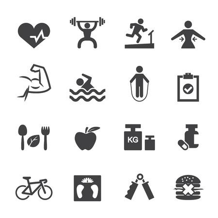 Icona di fitness Archivio Fotografico - 36141984