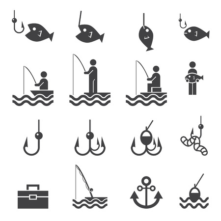 rod sign: Fishing icons