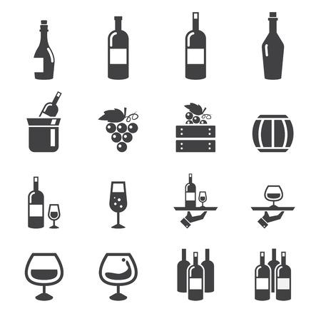 Icône de vin Banque d'images - 36141987