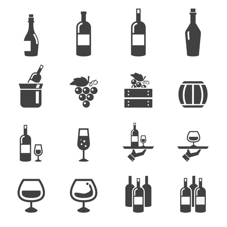 food and wine: wine icon