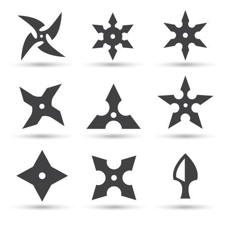 estrellas: icono de la estrella del ninja Vectores