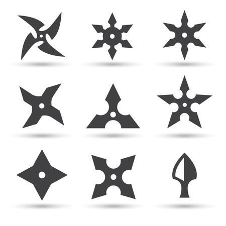 ninja star icon Illustration