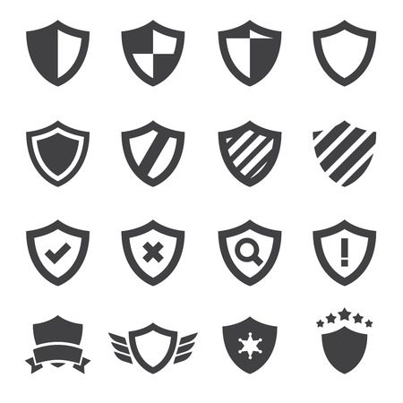 a collection of awards icon: shield  icon