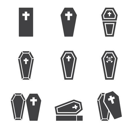 protestant: casket icon Illustration
