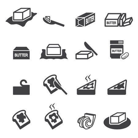 bread and butter: butter icon Illustration