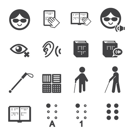 assistive: blind man icon