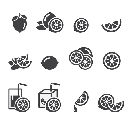 lemon icon Фото со стока - 36480283