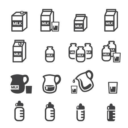 mleczko: Ikona mleka Ilustracja