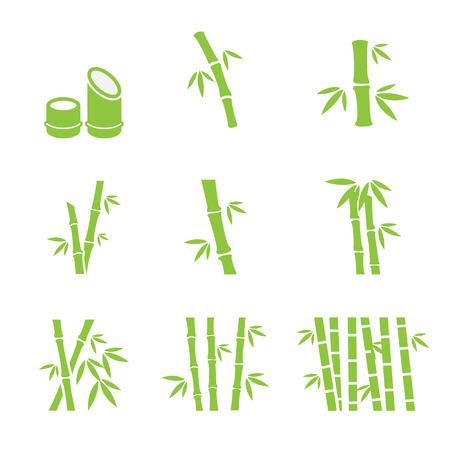 bambou: bambou icône Illustration