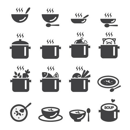 soup icon  イラスト・ベクター素材