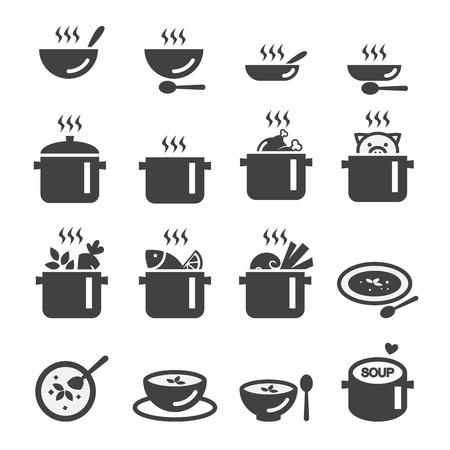 soup icon Stock Illustratie