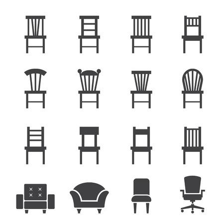 椅子のアイコン  イラスト・ベクター素材
