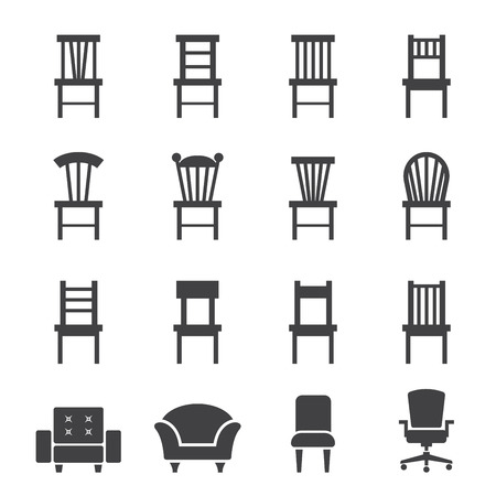 isolated chair: chair icon