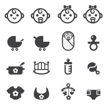 baby icon  イラスト・ベクター素材
