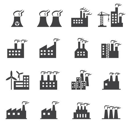 batiment industriel: Ic�ne de b�timent industriel