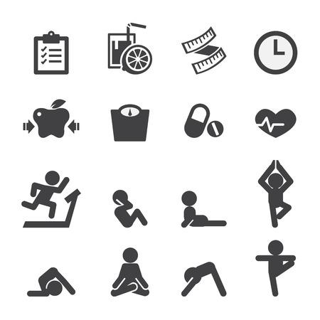 food hygiene: health and yoga icon