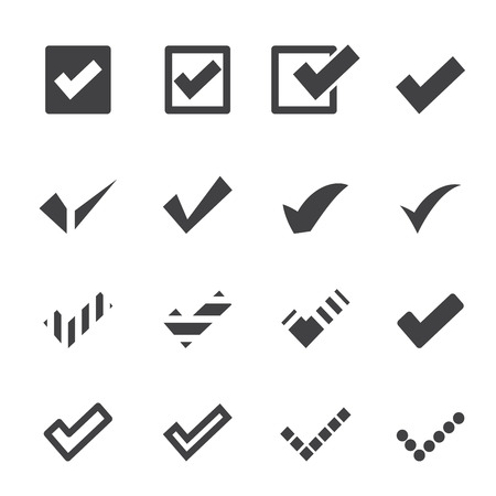 confirm: confirm icons Illustration