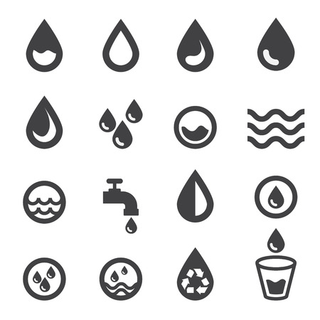 drop of water: water icon Illustration