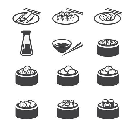 egg roll: dim sum icon