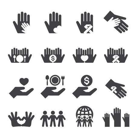 Charity pictogrammen instellen