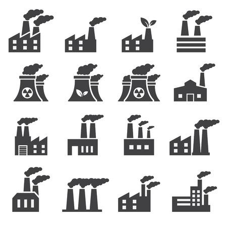 bedrijfshal: Industrieel gebouw pictogram Stock Illustratie