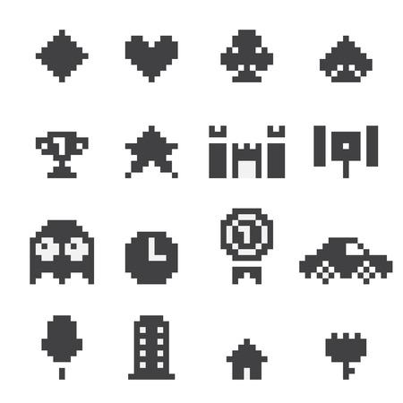 8 bit: 8 bits iconos set
