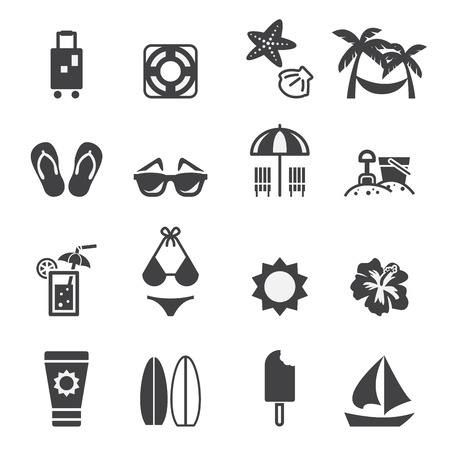 sun block: beach icon