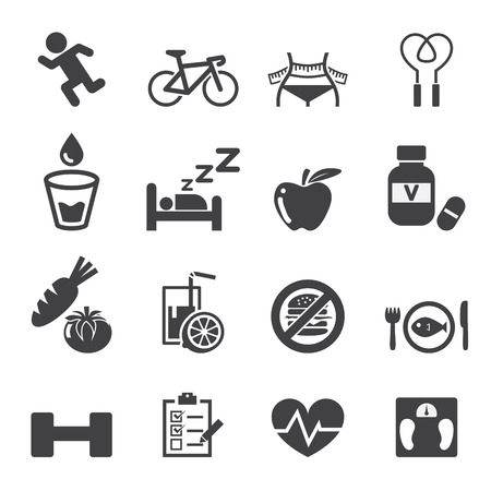 health icon set Vectores