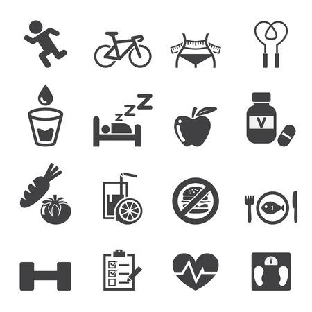 no correr: icono de la salud set