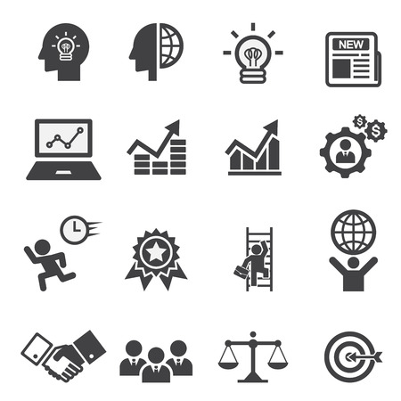 communication icons: business icon