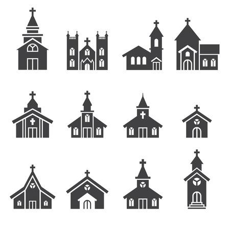 IGLESIA: icono edificio de la iglesia Vectores