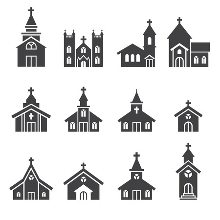 church building icon Stock Illustratie