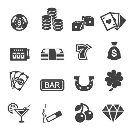 casino wheel: casino icon Illustration