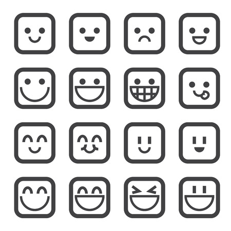 smile happy: smile icon Illustration