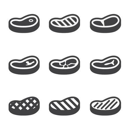 Steak Icons Set