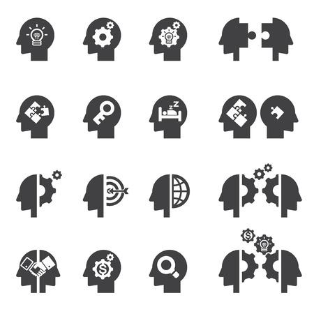 thinking machines: head concept icon
