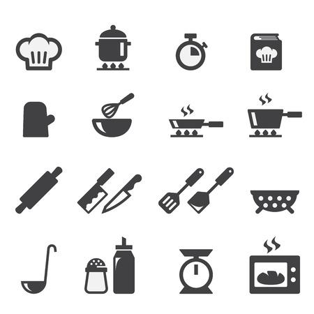cocinando: icono de la cocina Vectores