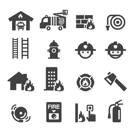 incendio casa: icono de bomberos