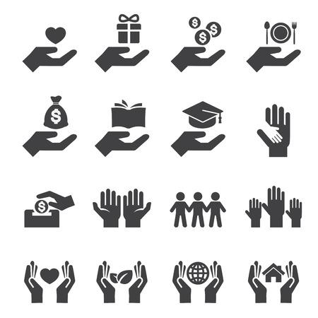 dar e ícone proteger Ilustração
