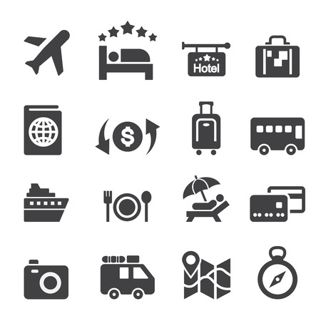 Travel Icon Set Standard-Bild - 38283256