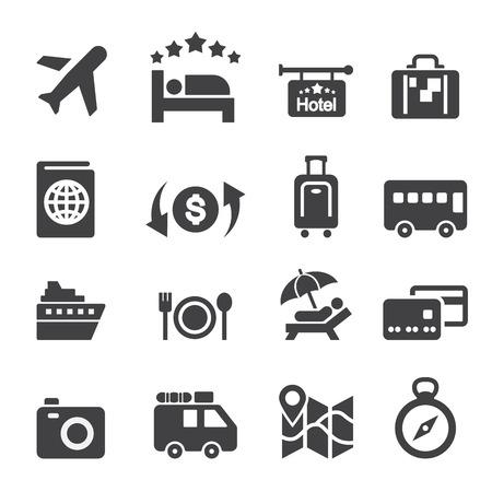 Viaje icono conjunto Foto de archivo - 38283256
