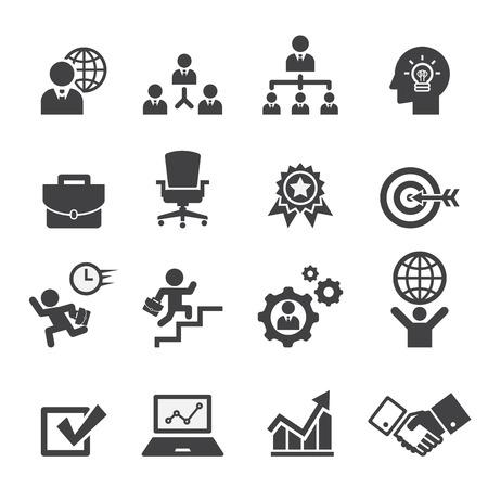 бизнес: бизнес набор иконок Иллюстрация