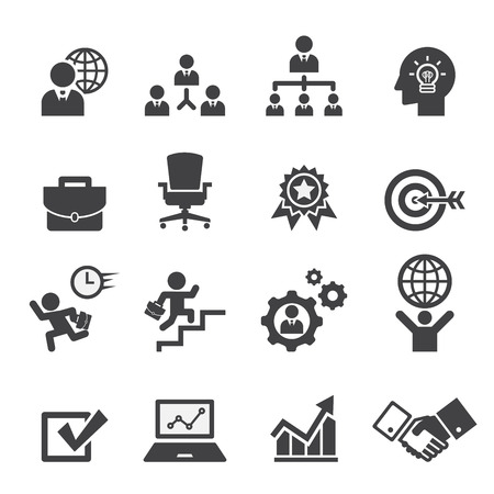 business team: business icon set